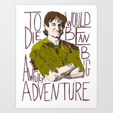 Robin Williams Hook Peter Pan Quote Art Print