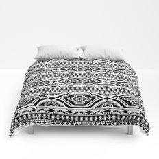 Aztec Geometric Print - Black Comforters