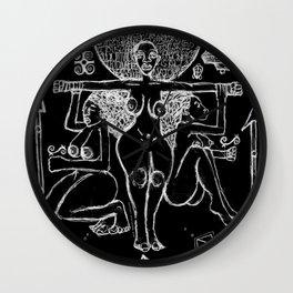 2013 Goddess of Balance (black design) Wall Clock