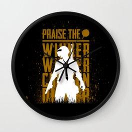 Praise the winner Wall Clock