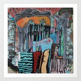 UNDER THE CITY (THE DEPTHS) Art Print