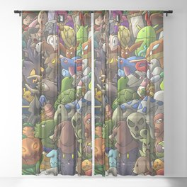 all terrarias pets- Digital version Sheer Curtain