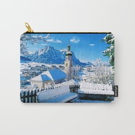 Kastelruth Dolomites, South Tyrol, Italian Winter Landscape Carry-All Pouch