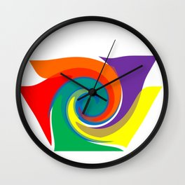 Rainboints Wall Clock