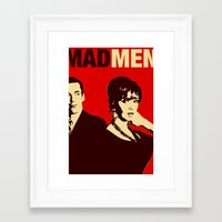 mad men Framed Art Prints featuring Mad Men by Kenny the Bearded