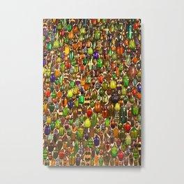 Army of Beetles and Bugs Metal Print