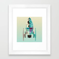 Rocket X Framed Art Print