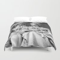 vienna Duvet Covers featuring Vienna statue by Veronika