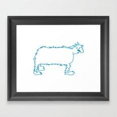 Ice Dog Framed Art Print