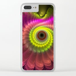 Curling up fantasy flower Clear iPhone Case
