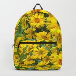YELLOW COREOPSIS FLOWERS GREEN GARDEN Backpack