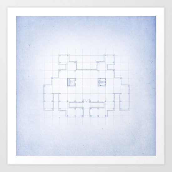 A SPACE PLAN Art Print