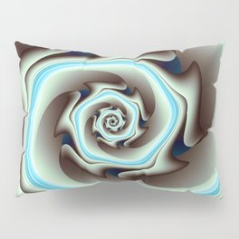 Abstract Geometric Swirl with Blue Pillow Sham