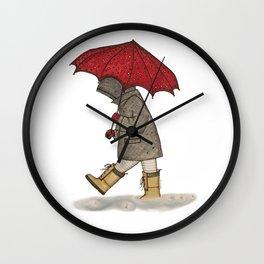 Playing in the Rain Wall Clock