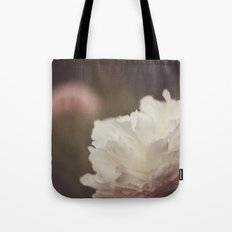White and Pink Peonies Tote Bag