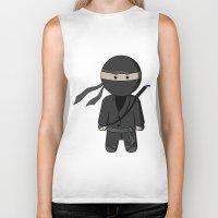 ninja Biker Tanks featuring Ninja by Shyam13