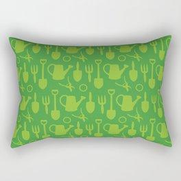 Green Garden Tools Rectangular Pillow