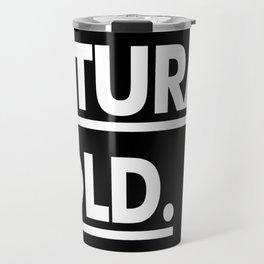Futura Bold Travel Mug