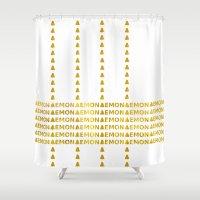 lemon Shower Curtains featuring Lemon by ARTbyJWP