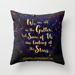 Wilde - Looking At The Stars Throw Pillow