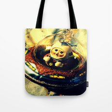 A Flying Saucer Christmas Tote Bag
