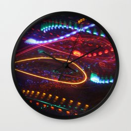 Sizzle and Pop light painting Wall Clock