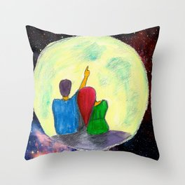 One day, I will take you there...  Throw Pillow