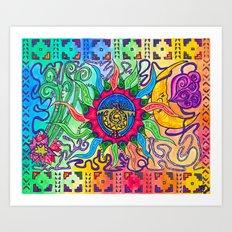 The Blazing Sun Art Print