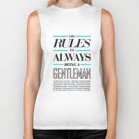 gentleman Biker Tanks featuring Gentleman! by ALLGOLD Creative