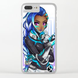 sombra cyberspace Clear iPhone Case