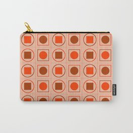 Rounds and Squares (Orange3) Carry-All Pouch