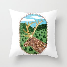 Spirit Elk Throw Pillow
