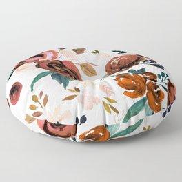 Valentina Vintage Rust Rose Floor Pillow