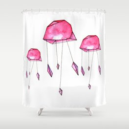 Geometric jellyfish Shower Curtain