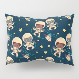 mouse cat and dog astronauts exploring the cosmos Pillow Sham