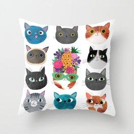 Cats, cats, cats! Throw Pillow
