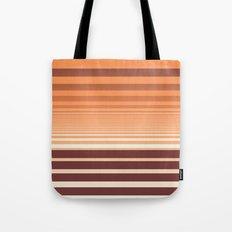 Ombre Horizontal Sienna and Orange Stripes Tote Bag