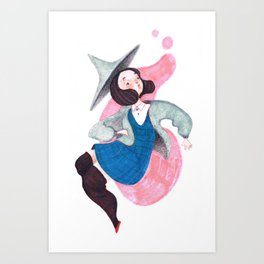 Bubblegum Witch Art Print