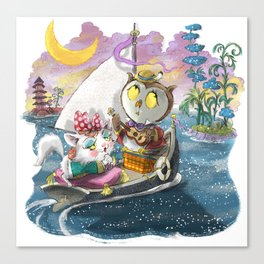 Owl and the Pussycat Canvas Print