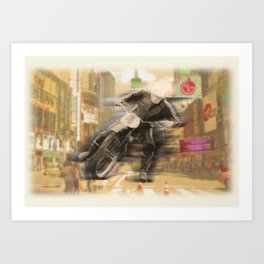 Urban_Speedway Art Print