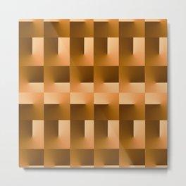 Square Blocks Metal Print