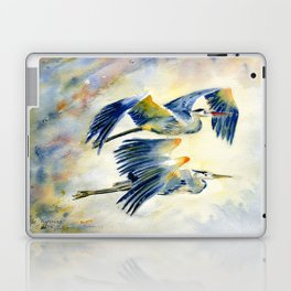 Flying Together - Great Blue Heron Laptop & iPad Skin