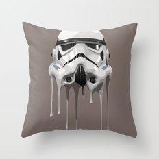 Stormtrooper Melting Throw Pillow