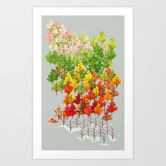 Seasons Art Print