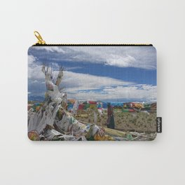 Colorful Tibetan Buddhist Prayer Flags Carry-All Pouch