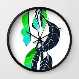 Avocado in Dark Blue Wall Clock