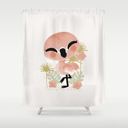 "The ""Animignons"" - the Flamingo Shower Curtain"