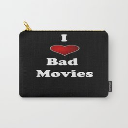 I (Love/Heart) Bad Movies print by Tex Watt Carry-All Pouch
