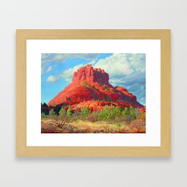 Big Bell Rock Sedona by Amanda Martinson Framed Art Print