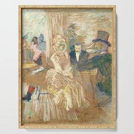 """Henri de Toulouse-Lautrec """"Au Bal masqué de l'Elysée Montmartre"""" Serving Tray"""